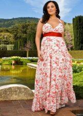 Летнее платье-сарафан для полных