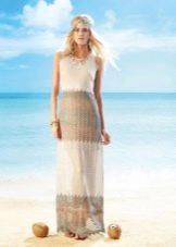 Легкое платье в стиле бохо вязаное