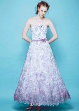 Цветное пышное летнее платье