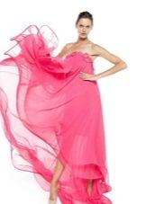 Розовое летнее платье в пол