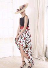 Летнее платье хай-лоу цветное