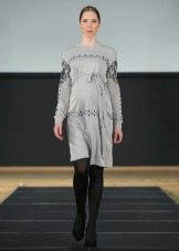Осеннее платье для беременных вязаное