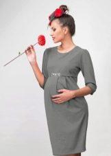 Осеннее платье для беременных футляр