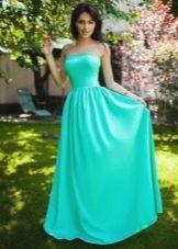 Длинное летнее платье-бандо