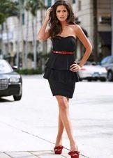 Платье-бюстьес баской