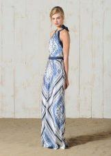 Платье из шелковых платков в пол летнее