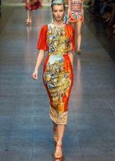Платье-футляр из платков