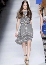 Платье из платков хай-лоу