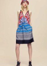 Платье из платков с драпировкой