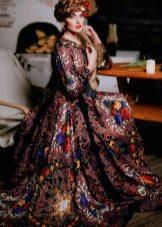 Платье из павлопосадских платков в пол