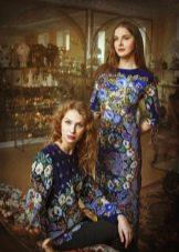 Платья из павлопосадских платков