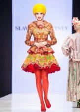 Платье из павлопосадских платков Зайцева