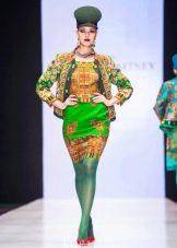 Платье из павлопосадских платков дизайнера Зайцева