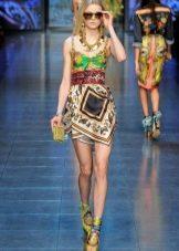 Платье из платков асимметричное