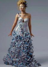 Платье из бумаги а-силуэта