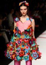 Платье из бумаги цветное
