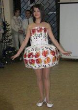 Платье из коробок