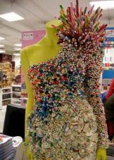 Платье из конфет асимметричное