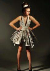 Платье из бумаги мини