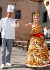 Платье из конфет свадебное