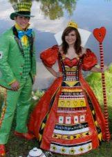 Платье из скотча пышное в пол