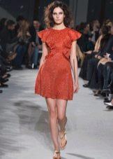 Платье с цельнокроеным рукавом коктейльное