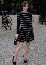 Платье с юбкой солнце с длинным рукавом