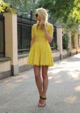 Платье с юбкой солнце с рукавом три четверти