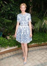 Платье с юбкой солнце с коротким рукавом
