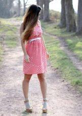 Босоножки с носочками к платью-сарафан