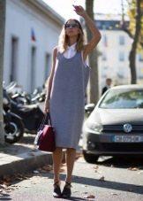 Платье-сарафан миди с майкой