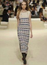 Твидовое платье миди