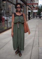Платье в стиле милитари для женщин с Прямоугольной фигурой и выделяющимся животом