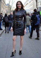 Платье в стиле милитари для женщин с фигурой типа Песочные часы