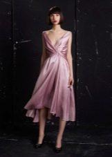 Платье из крепдешина а-силуэта
