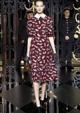 Платье из крепдешина в стиле ретро