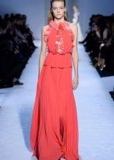 Платье из крепдешина розовое