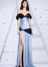 Платье из крепдешина с драпировкой