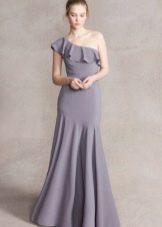 Платье из крепдешина  с воланами