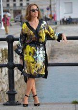 Платье кимоно из крепдешина