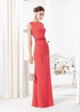 Платье из крепдешина длинное