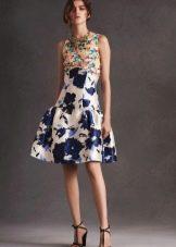 Платье из крепдешина летнее