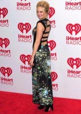 Вечернее платье с открытой спиной цветное