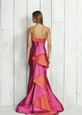 Платье русалка со шлейфом розовое