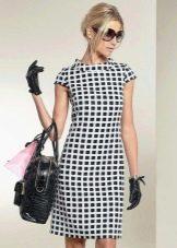 Клетчатое платье стиляги в стиле 60-х