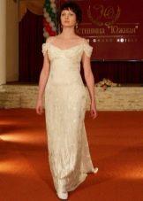 Платье в стиле ампир свадебное с приспущенными бретелями