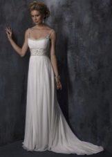 Платье в стиле ампир свадебное со шлейфом