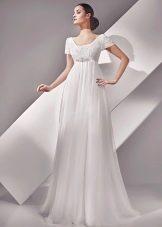 Платье в стиле ампир свадебное с поясом