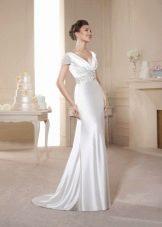 Платье в стиле ампир свадебное с драпировкой