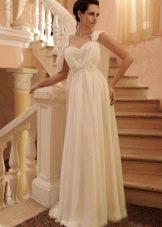 Платье в стиле ампир свадебное на бретелях